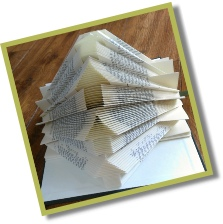 Arrows book folding template